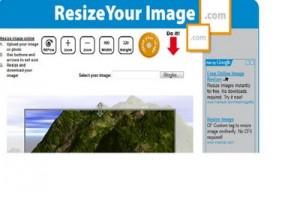 Immagine del sito ResizeYourImage per modificare foto online