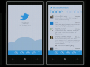 Immagine dell'applicazione Twitter per Windows Phone 7