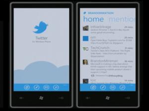 Immagine dell'applicazione Twitter per Windows Phone 7