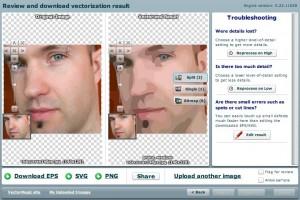 Immagine del sito VectorMagic per modificare foto online