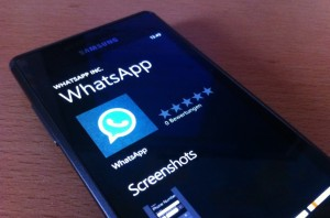 Immagine dell'applicazione WhatsApp per Windows Phone 7