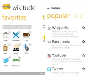 Immagine dell'applicazione Wikitude per Windows Phone 7