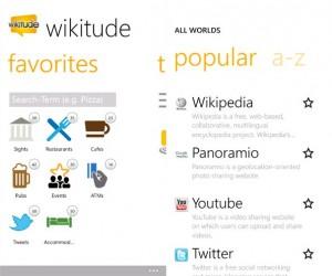 Immagine dell'applicazione Wikitude per Windows Phone 7