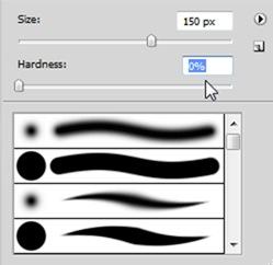 Selezione del pennello su Photoshop