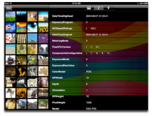 Immagine dell'app Photo Info Viewer per iPad