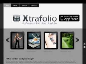 Immagine dell'app Xtrafolio Photo Portfolio Professional per iPad