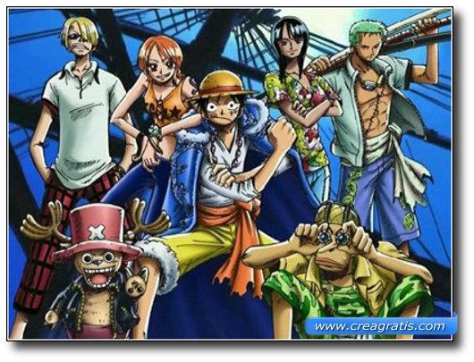 Immagine del cartone animato One Piece