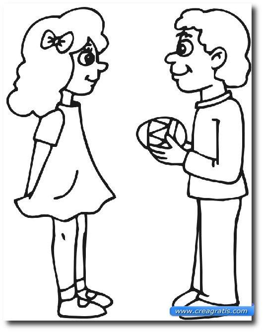 Immagine d'esempio di uno dei disegni di Pasqua