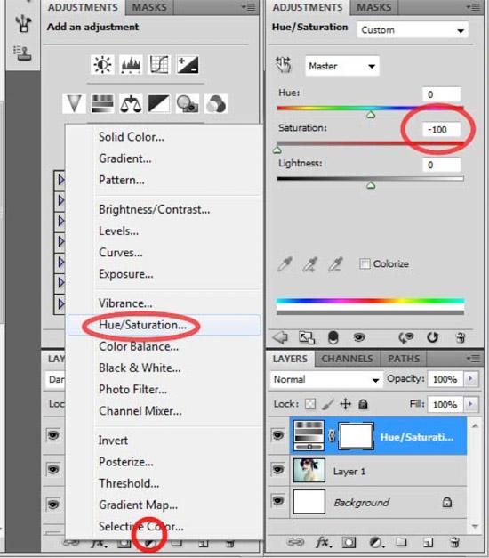Immagine che mostra come trasformare la foto in bianco e nero