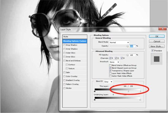 Immagine che mostra come gestire le fusioni della foto