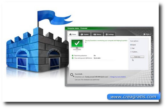 Immagine dell'antivirus MSE Free Anti-virus