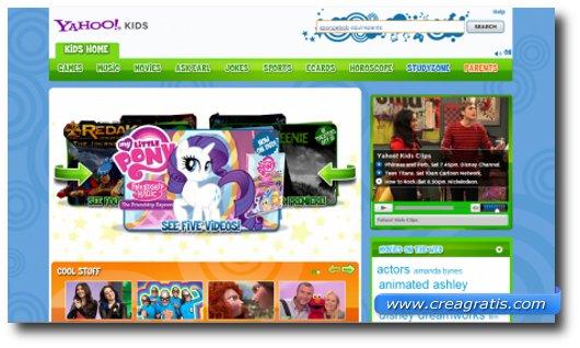 Immagine del motore di ricerca Yahoo! Kids