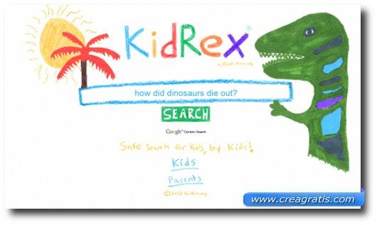 Immagine del motore di ricerca KidRex