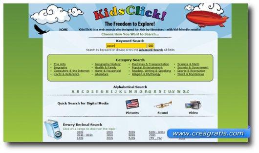 Immagine del motore di ricerca KidsClick
