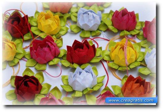 Immagine di un loto creato con la carta