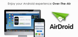 Interfaccia dell'app AirDroid per Android