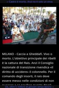 Immagine dell'applicazione Quotidiani Italiani Online per Android