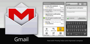 Interfaccia dell'app GMail per Android
