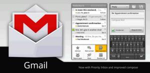 Interfaccia dell'app GMail per Android