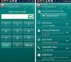 Immagine dell'app Kaspersky Mobile Security 9