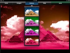 Immagine dell'applicazione PhotoPad per iPad