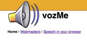Interfaccia del servizio VozMe per convertire testo in audio MP3