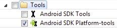 Selezionare la voce Android SDK Platform-tools