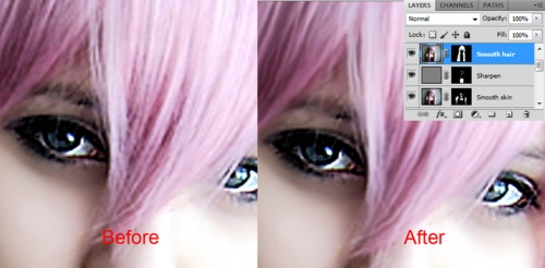 Migliorare la qualità dei capelli sulla foto