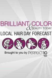 Interfaccia dell'app Hair Cast di make up per ragazze