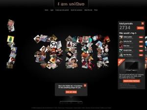 Immagine del sito Iamunique per creare avatar online