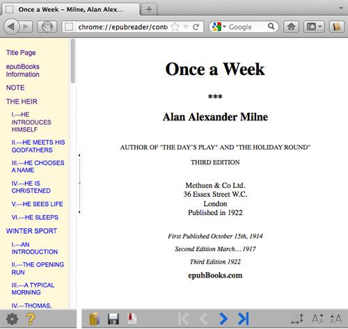 Esempio di lettura eBook con il browser