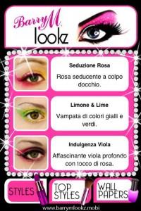 Interfaccia dell'app Lookz di make up per ragazze