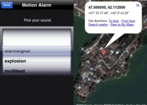 Immagine dell'app Motion Alarm per iPhone