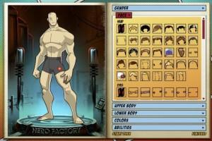 Immagine del sito TheHeroFactory per creare avatar online