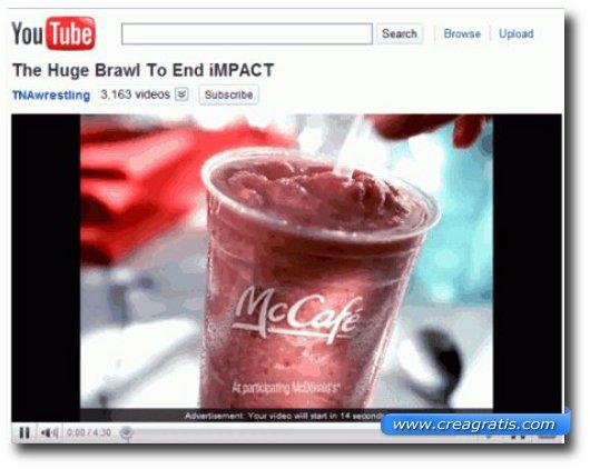 Immagine di esempio di un video di YouTube