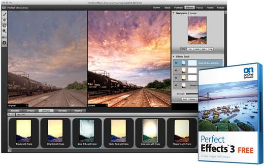 Interfaccia grafica del software Perfect Effects 3