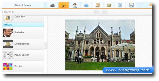 Immagine del sito iPiccy per modificare foto online