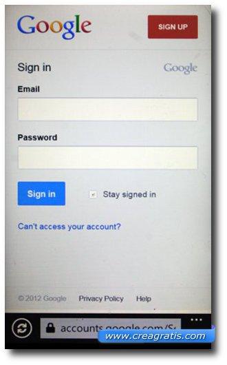 Accesso a Google Docs