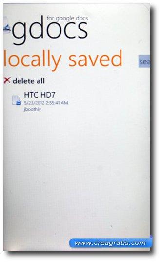 Eliminare documenti con GDocs