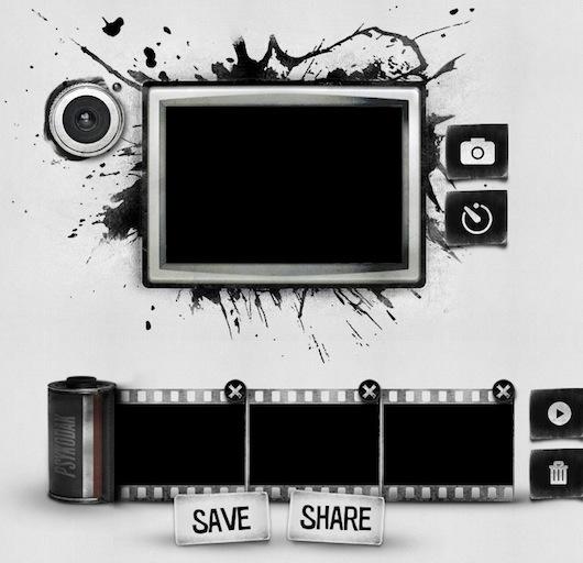 Interfaccia grafica del sito per creare GIF animate