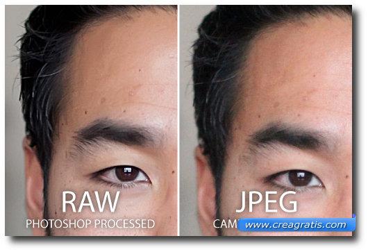 Confronto delle immagini utilizzate su Photoshop