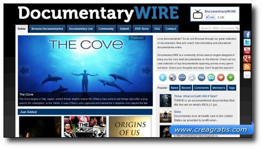 Immagine del sito DocumentaryWIRE