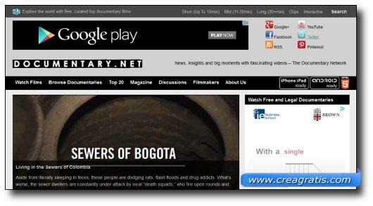 Immagine del sito Documentary.net