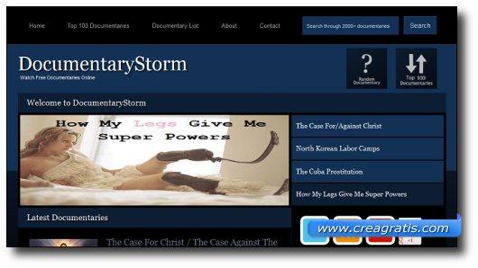 Immagine del sito DocumentaryStorm