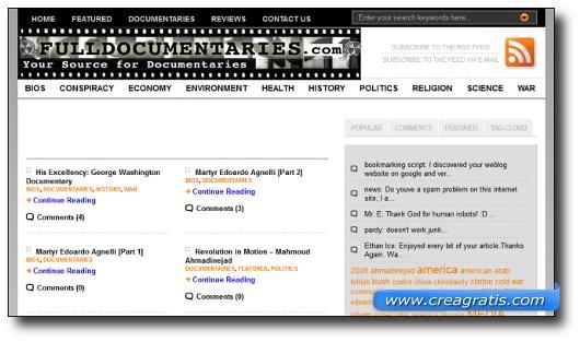 Immagine del sito Full Documentaries