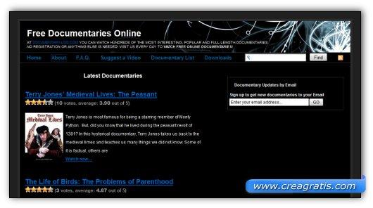 Immagine del sito Documentary-Log.com
