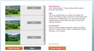 Immagine del sito Easymoza per creare mosaici