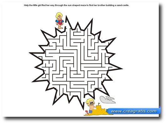 Immagine di un labirinto per bambini