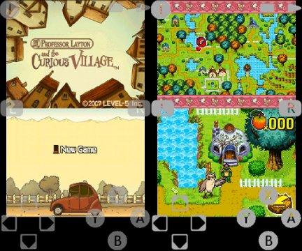 Interfaccia grafica dell'emulatore NDS4Droid per Android