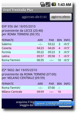 Immagine dell'app Orari Trenitalia Plus per Android